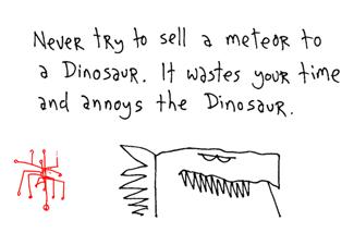 Dinosaur, by Hugh MacLeod