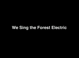We Sing The Forest Electric by Grickle